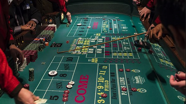 Gros plan de la table Active Craps
